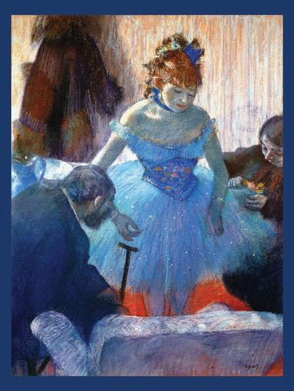 Ballerina Changing-Edgar Degas-Art Print