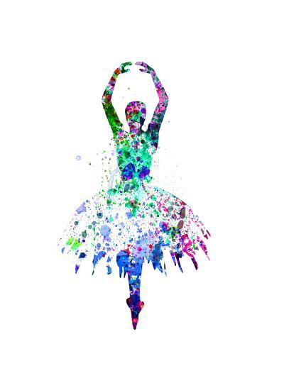 Ballerina Dancing Watercolor 4-Irina March-Art Print