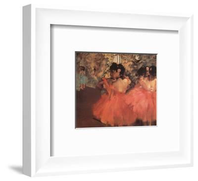 Ballerina in Red-Edgar Degas-Framed Art Print