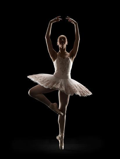 Ballerina in Releve Pose-Lewis Mulatero-Photographic Print