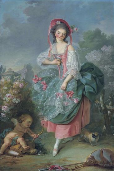 Ballerina Marie-Madeleine Guimard (1743-181) as Terpsichore-Jacques Louis David-Giclee Print