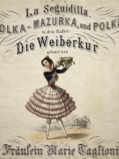 Ballerina Marie Taglioni--Giclee Print