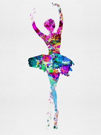 Ballerina Watercolor 1-Irina March-Art Print