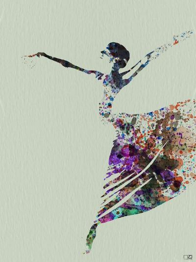 Ballerina Watercolor 3-NaxArt-Art Print