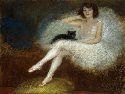 Ballerina with a Black Cat-Pierre		 Carrier-Belleuse-Giclee Print