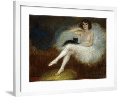 Ballerina with a Black Cat-Pierre Carrier-Belleuse-Framed Giclee Print