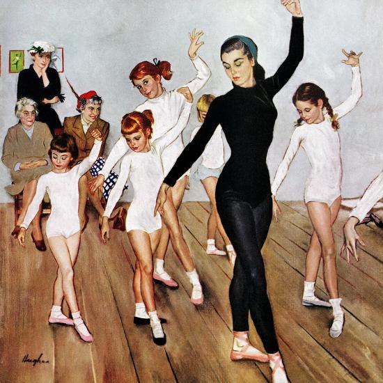 """Ballet Class"", November 3, 1956-George Hughes-Giclee Print"