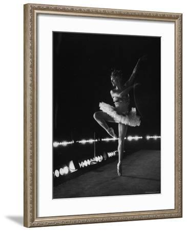 "Ballet Dancer Mia Slavenska Performing in the Ballet ""Arabian Nights.""-Gordon Parks-Framed Premium Photographic Print"