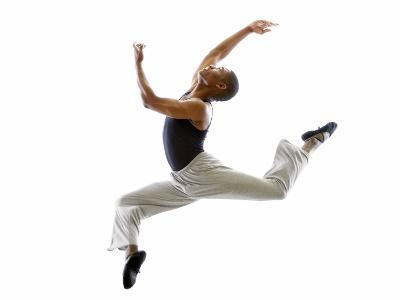 Ballet Dancer Mid-air in Jump-Tim Pannell-Photographic Print