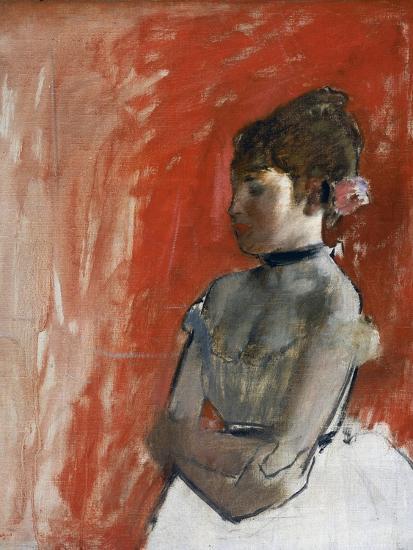Ballet Dancer with Arms Crossed by Edgar Degas-Edgar Degas-Giclee Print