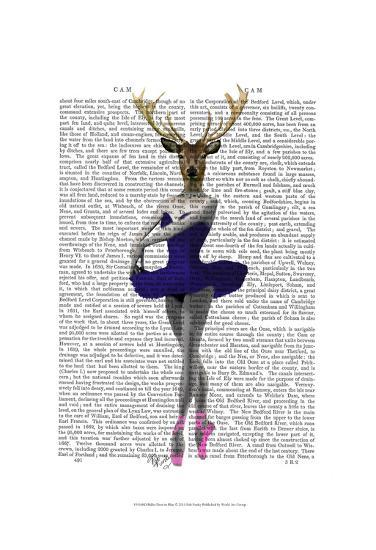 Ballet Deer in Blue-Fab Funky-Art Print