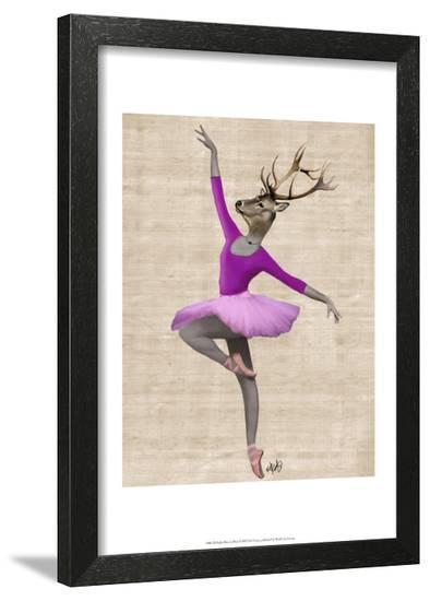 Ballet Deer in Pink-Fab Funky-Framed Art Print