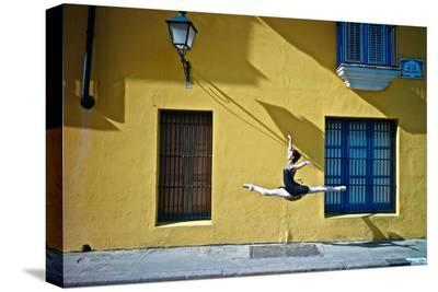 Ballet in the Colonial Streets of Old Havana-Kike Calvo-Stretched Canvas Print