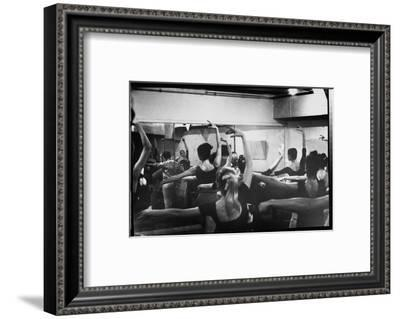 Ballet Master George Balanchine Working with Dancers at Morning Class During NYC Ballet Company-Gjon Mili-Framed Premium Photographic Print