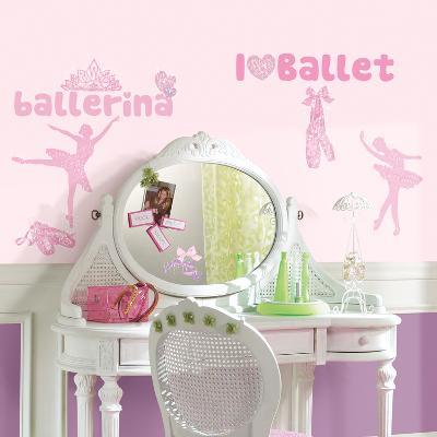 Ballet Peel & Stick Wall Decals w/Glitter--Wall Decal
