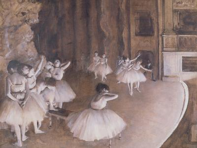 Ballet Rehearsal on the Stage, 1874-Edgar Degas-Giclee Print