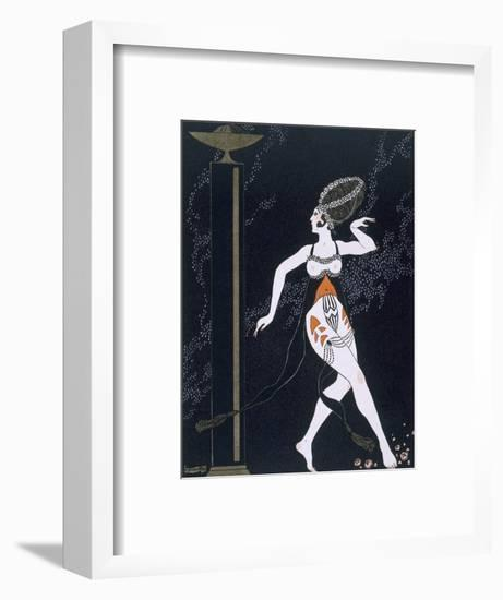 Ballet Scene with Tamara Karsavina (1885-1978) 1914 (Pochoir Print)-Georges Barbier-Framed Premium Giclee Print