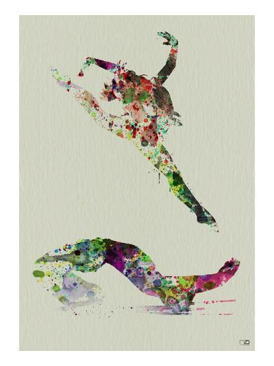 Ballet Watercolor 3-NaxArt-Art Print