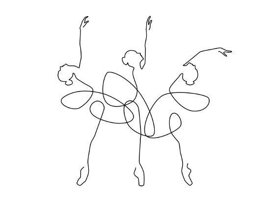 Ballet x3-Explicit Design-Art Print
