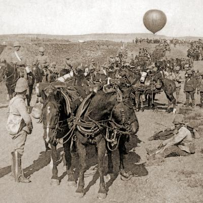 Balloon Corps Transport, with Lord Roberts' Army - Advance on Johannesburg, South Africa, 1901--Photographic Print