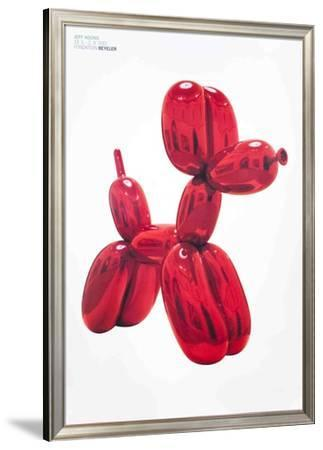 Balloon Dog (Red)-Jeff Koons-Framed Art Print