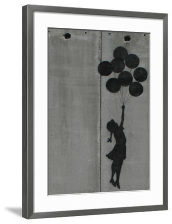 Balloon girl-Banksy-Framed Giclee Print