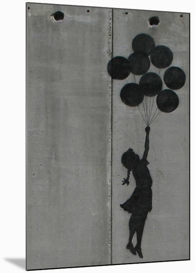 Balloon girl-Banksy-Mounted Giclee Print