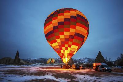 Balloon in Morning, Cappadocia-Nejdet Duzen-Photographic Print