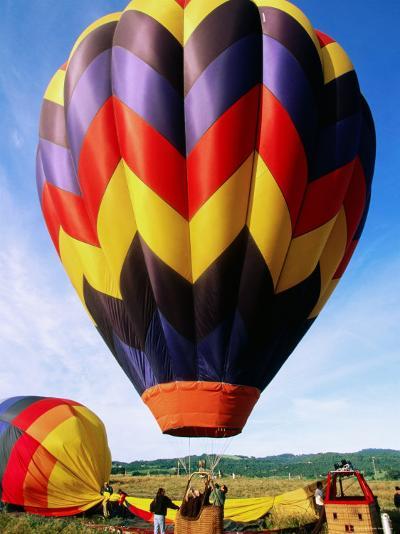 Balloon Landing, Napa Valley, California-John Elk III-Photographic Print