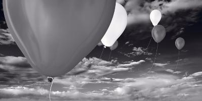 Balloon Launch BW-Steve Gadomski-Photographic Print