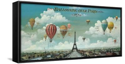 Ballooning Over Paris-Isiah and Benjamin Lane-Framed Canvas Print