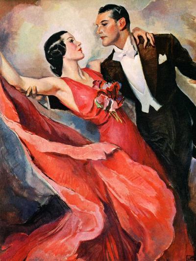 """Ballroom Dancing,""April 10, 1937-John LaGatta-Giclee Print"