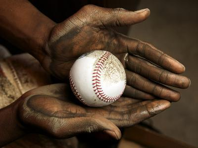 Balls are rubbed with mud before every major league baseball game-Rebecca Hale-Photographic Print