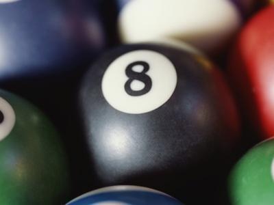 Balls on a pool table