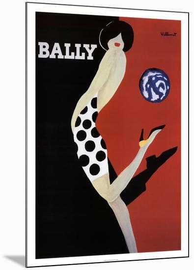 Bally-Bernard Villemot-Mounted Print