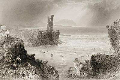 Ballybunnion, County Kerry, Ireland, from 'scenery and Antiquities of Ireland' by George Virtue,…-William Henry Bartlett-Giclee Print