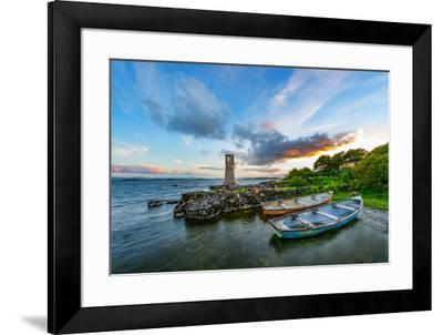 Ballycurrin Lighthouse in the Mood-Philippe Sainte-Laudy-Framed Photographic Print