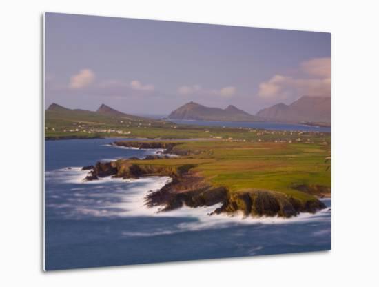Ballyferriter Bay from Clougher Head, Dingle Peninsula, County Kerry, Munster, Ireland-Doug Pearson-Metal Print