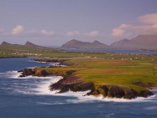 Ballyferriter Bay from Clougher Head, Dingle Peninsula, County Kerry, Munster, Ireland-Doug Pearson-Photographic Print
