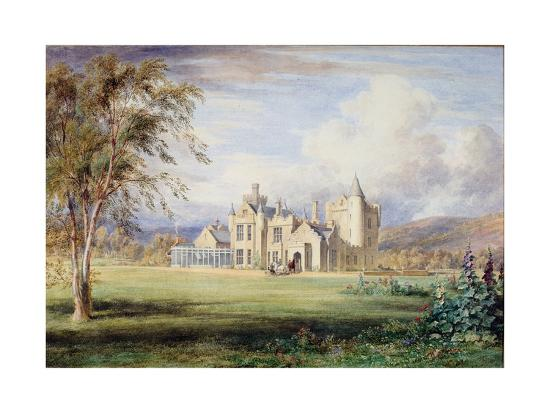 Balmoral Castle, C.1840-James William Giles-Giclee Print