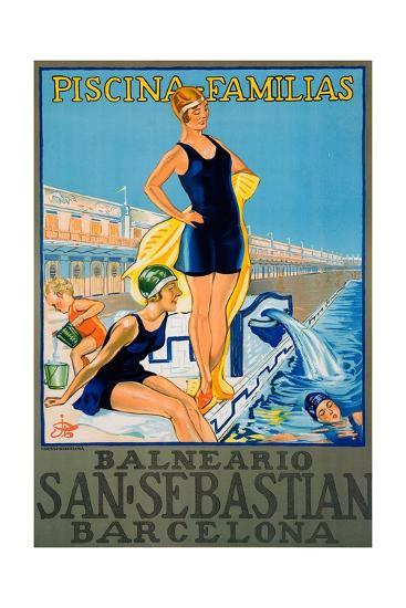 Balneario San Sebastian Barcelona Poster--Giclee Print