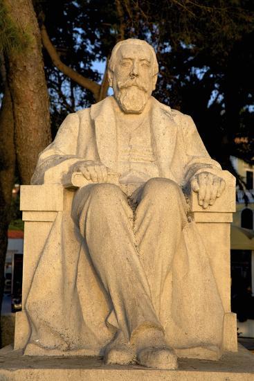 Baltazar Bogisic Statue, Cavtat, Dalmatia, Croatia, Europe-Neil Farrin-Photographic Print