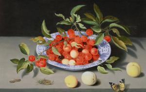 Still Life of Cherries and Peaches by Balthasar van der Ast