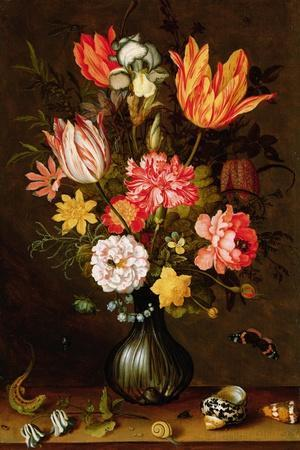 Still Life of Flowers with Insects