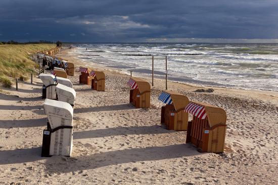 Baltic Sea Spa Wustrow, Beach, Beach Chairs-Catharina Lux-Photographic Print