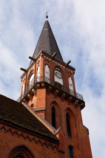 Baltic Sea Spa Wustrow, Village Church-Catharina Lux-Photographic Print