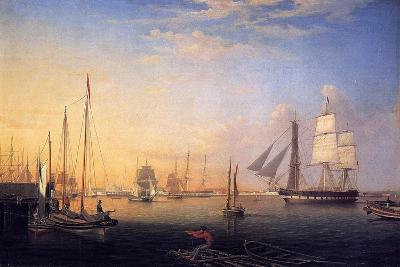 Baltimore Harbour, 1850-Fitz Henry Lane-Giclee Print