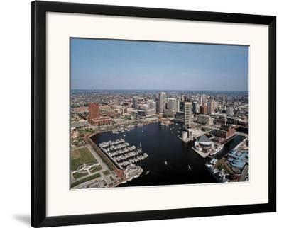 Baltimore Inner Harbor-Mike Smith-Framed Art Print