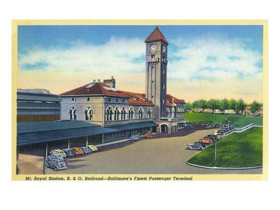 Baltimore, Maryland - Mt. Royal Station, Baltimore and Ohio Railroad View-Lantern Press-Art Print