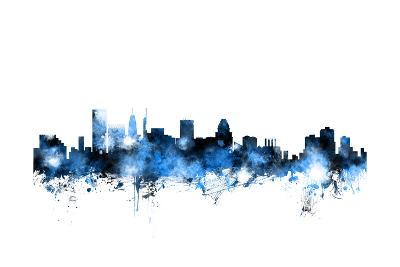 Baltimore Maryland Skyline-Michael Tompsett-Art Print